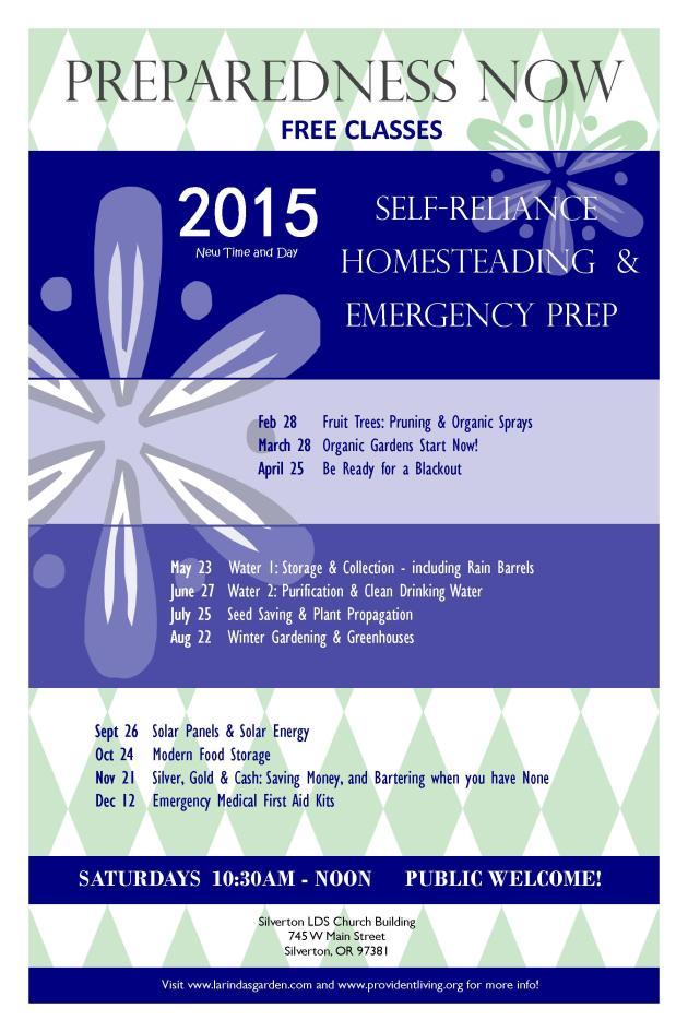 Prepare Now Schedule Poster 2015